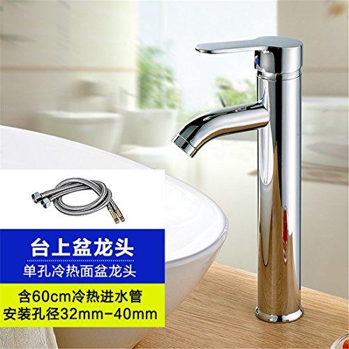 Grifo lavabo agua fría acero inoxidable núcleo cobre