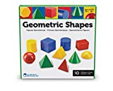 This big bright set of shapes make exploring geometry fun! Shapes have a common 3-dimension to illustrate relationships between area, volume, shape, form and size. Plastic shapes include: cone, sphere, hemisphere, cube, cylinder, rectangular prism, h...