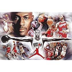 Póster de Michael Jordan Colaje (91,5cm x 61cm) + embalaje para regalo