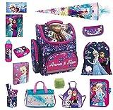 Disney die Eiskönigin Schulranzen Set 19tlg. Sporttasche Schultüte 85cm Regen/Sicherheitshülle von Familando PL14 Frozen