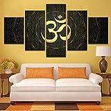 Ayhuir 5 Pièces Toile Peinture Hd Sainte Bible Islam Musulman Affiche Imprimer Peinture Chambre Décor Wall Art40x60cm-no frame