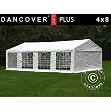 Dancover Carpa para Fiestas Plus 4x8m PE, Blanco