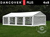 Dancover Partyzelt Pavillon Festzelt Plus 4x8m PE, Weiß