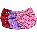 Chinmay Kids One Size Adjustable Baby Cloth Button Diaper - Washable/Reusable Nappies For Infants & Toddlers (WOP) Pack Of 3