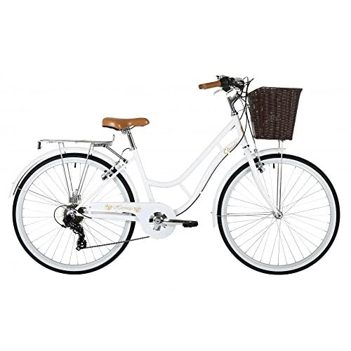 "51og5C064HL. SS500  - Classic Heritage Ladies 26"" Wheel 7 Speed 16""£ Frame Traditional Bike Bicycle White"
