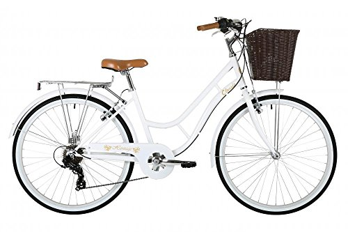"51og5C064HL - Classic Heritage Ladies 26"" Wheel 7 Speed 16""£ Frame Traditional Bike Bicycle White"
