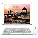 Tablet 10 Pollici con Wifi Offerte, RAM da 3GB 32GB ROM(espandibile 128GB)DUODUOGO 4G Tablet Android 9.0 Quad-Core 1.5 GHz Dual SIM Tablet PC Offerta Del Giorno con Netflix/OTG/Tastiera(Oro 32GB)