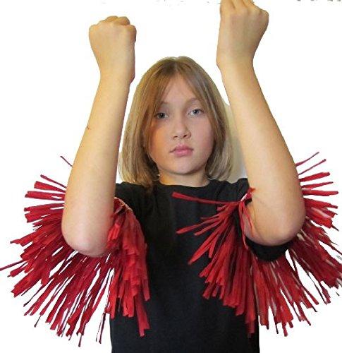 Mondial-fete - 1 paire de brassières ou jambières zoulou-danseur rouge
