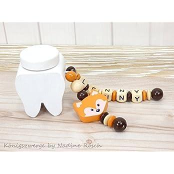 Milchzahndose mit Namen / Zahndose mit Namen / Zahndose Junge