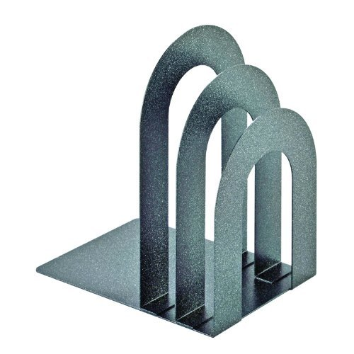 STEELMASTER Soho Collection Deluxe Bookend Sorter, Curved, 8.06 x 7 x 5 Inches, Granite (241873RA3) by STEELMASTER
