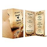 Menükarten Hochzeit (10 Stück) - Flaschenpost - Speisekarte Getränkekarte