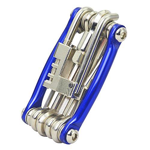 Rancco® Bicicleta Multi Herramienta, portátil bicicleta Reparación kit de multiherramienta con cadena Breaker/llaves hexagonales/de cabeza plana/philips destornillador/Torx T-25 w/bolsa
