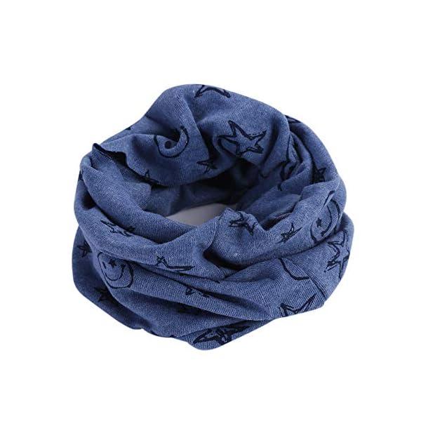 Danolt Bufanda de los niños, Bufanda de algodón de Invierno Calentador de Cuello Pañuelos para bebés, niños y niñas, 0-3… 5