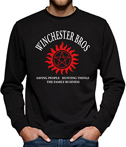 TLM Winchester Bros - The Family Business Sweatshirt Pullover Herren S (Kostüm Supernatural Castiel)