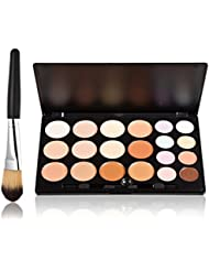 ROSENICE 20 Farben Kontur Gesicht Creme Make-up Concealer Palette + Make-up Pinsel