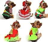 Fancy Me Mädchen Jungen Haustier Hund Katze Weihnachten Weihnachtsmann Elfen Geschenk Kostüm Kleid Outfit Kleidung XS-XL - Santa Baby, L