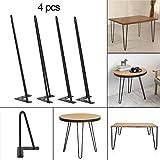 4er-Set Tischbeine Metall Zwei-Stange Haarnadel Tischbeine für Couchtische, moderne Schreibtische, Nachtständer oder Stühle (55CM / 22'')