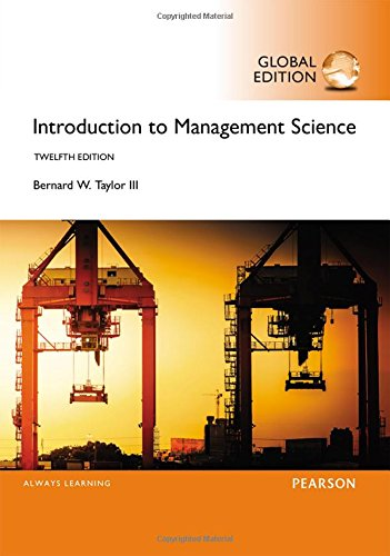 Introduction to Management Science, Global Edition por Bernard W. Taylor