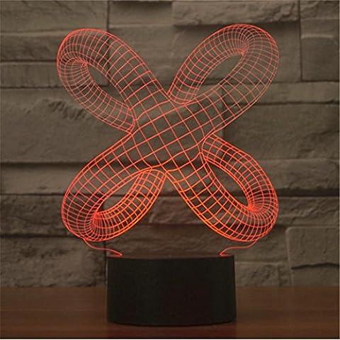 JUSUBA Interruptor táctil abstracto colorido de las luces en 3D acrílico luz de color luces LED tridimensional Luz