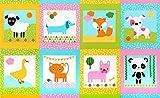 Ann Kelle Kinder-Stoff, Tiersteppung, RK256 Pastellfarben,