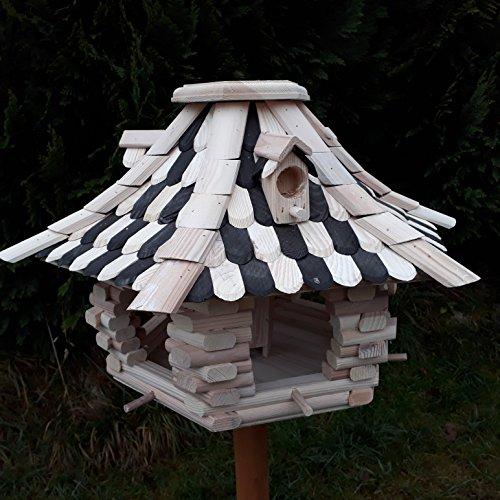 Großes Vogelhaus Futterhaus Vogelhäuschen –Wetterschutz– OK22 - 5