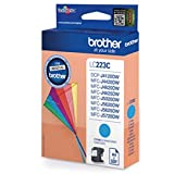 1x Original Brother Tintenpatrone LC 223 LC223 LC-223 - Cyan - für MFC J 5620 DW - Leistung: ca. 550 Seiten bei 5% Seitenabdeckung