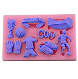 Fu?ball-Thema-Schokoladen-Silikon-Form-Kuchen-Dekorations-Form