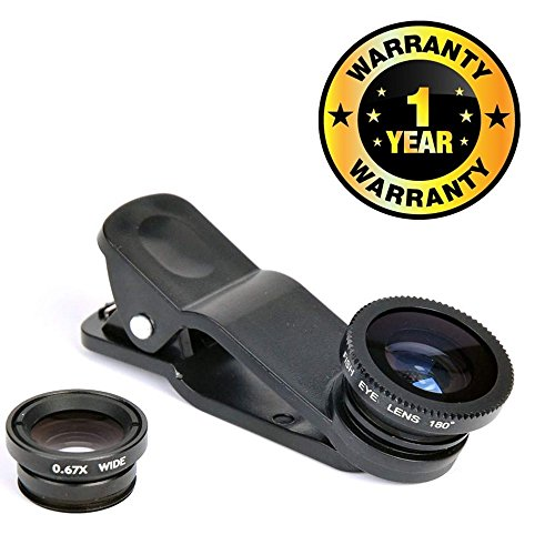 Cospex Camera Clip Lens 3-in-1 Fish Eye + Macro + Wide Angle