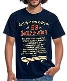 Spreadshirt Geburtstag Träger 50 Jahre Rahmenlos® Männer T-Shirt, XL, Navy
