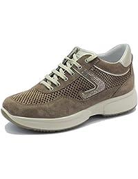 Grisport Sneakers Elite per Donna in camoscio Traforato Tortora bc5859a504b