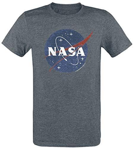 Nasa Circle Logo Camiseta Gris Marengo M