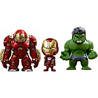 Hot Toys - Figurine Marvel Avengers Age of Ultron - Pack de 3 Cosbaby Hulk /