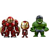 Hot Toys - Figurine Marvel Avengers Age of Ultron - Pack de 3 Cosbaby Hulk / Iron Man Mark XLIII / Hulkbuster 14cm - 4897011176987