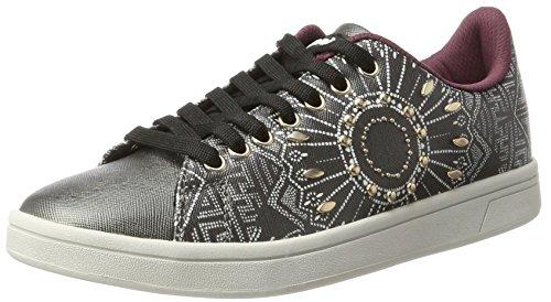 Desigual Damen Shoes_Cosmic Blackstuds Sneaker Schwarz (Negro)