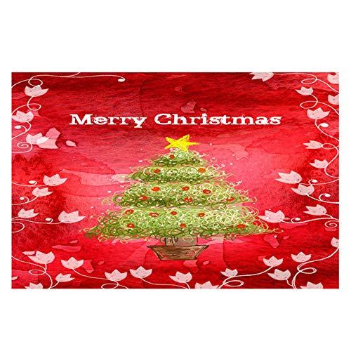 Hukz Frohe Weihnachten Willkommen Fußmatten Indoor Home Carpets Decor, Material: Korallensamt(40x60CM) (F)