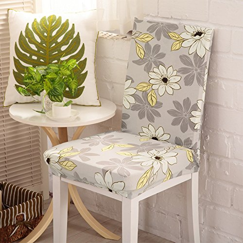 Stale Schwarzer Hintergrund und Rote Blumen-Druckstuhl-Abdeckungs-Elastische Ausdehnung Abnehmbarer entfernbarer Moderner Schutzbezugs-Stuhl-Kasten Color 8 universal Sizes
