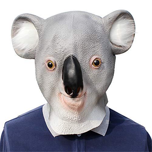 Koala Süßes Kostüm - RENS Halloween Koala Maske, Süßes Tier Latex Vollmaske, Neuheit Maskerade Kostüm Party Lustige Requisiten