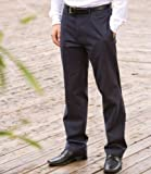 Henbury Flat Fronted Chino Trousers 34/L Navy
