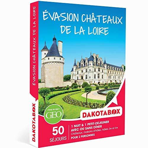 DAKOTABOX - Coffret Cadeau - ÉVASION CHÂTEAUX DE LA LOIRE - 50 séjours en hôtels...