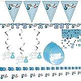 Dekopaket Geburt Taufe Junge Babyparty Fest Freudiges Ereignis Baby Deko