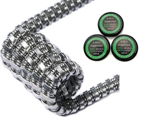 30x Juggernaut Coils aus Kanthal A1 0,45Ohm Widerstand Fertigcoils Wickeldraht Draht Wicklungen (30x Juggernaut)