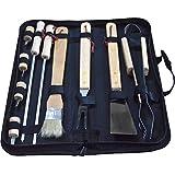 Gracelaza Utensilios barbacoa Juego de utensilios para barbacoa de acero inoxidable kit 10 piezas, 41CM