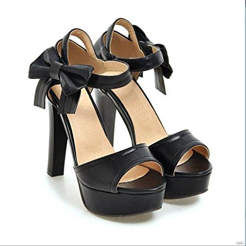 Sproud Fashion Sexy Wasserdicht High Heels Sandaletten Weibliche Bögen Koreanisch Prinzessinnen Und Sommer Schuhe 38 B