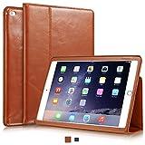 KAVAJ iPad Air 2 Hülle Echtleder Case Berlin für das Apple iPad Air 2 Cognac-Braun aus echtem Leder mit Stand und Auto Schlaf/Aufwachenen Funktion. Dünnes Smart-Cover Schutzhülle Tasche Ledertasche