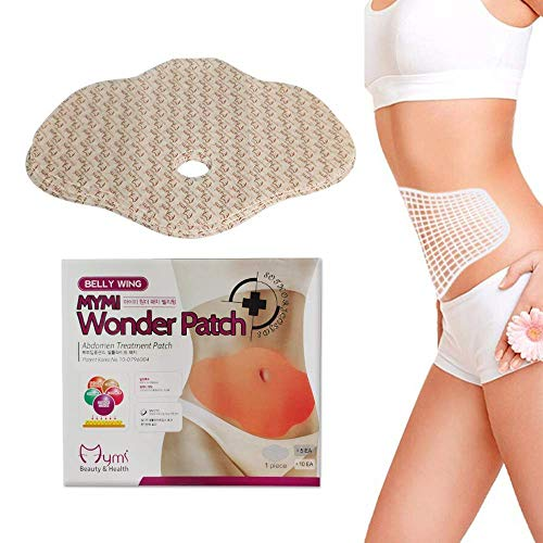 Pivica 10Pcs Body Slimming Patch, Fat Burning Abdominal Fat Away Sticker Magnets, Mymi Wonder Patch Quick Slimming Patch, for Beer Belly, Buckets Waist, Belly Fat -