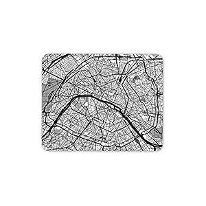 París Francia Urbana Mapa tapete de ratones Cojín – viaje del francés del regalo fresco del ordenador de la PC # 8416