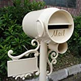 Boîtes Aux Lettres Vintage Type De Poteau Boîte À Lettres en Forme De Baril De Lait Tout en Aluminium Décoration De Jardin Boîte Postale Aux Lettres Sécurisées