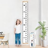 Tabla de crecimiento para colgar en la pared, regla para niños niños y niñas, decoración de la habitación infantil, tabla de crecimiento de 20 x 200 cm Mibote