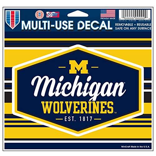 Wincraft Michigan Wolverines Offizieller NCAA Autoaufkleber 11,4 x 15,2 cm -