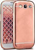 MoEx Cover Silicone Metallizzato Compatibile con Samsung Galaxy S3 / S3 Neo | Flessibile, Robusta, Rosa-Dorato